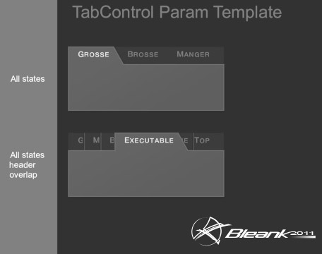 Bleank technology for Wpf tabcontrol template